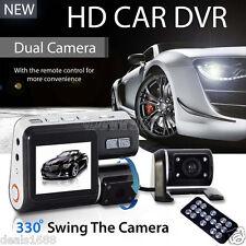 Doppia Lente Auto Veicolo DVR HD 1080P Videocamera Registratore G-Sensor Cam