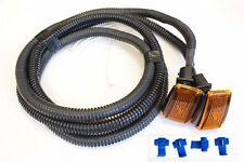 VOLVO AMBER SIDE MARKER REPEATER FENDER MOUNTED KIT WITH WIRES 9133609