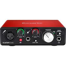 Focusrite Scarlett Solo 2nd Gen USB Audio Interface w Ableton & Pro Tools - NEW