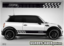 Mini Cooper S side racing stripes 012 vinyl stickers decals graphics