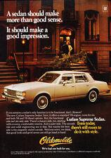 1982 Oldsmobile Cutlass Supreme Sedan -  Vintage Advertisement Ad J01