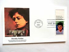 """August 22nd, 1992 """"Dorothy Parker"""" Celebrated Author First Day Issue Lot #2"""