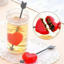 Tea Filter Strainer Cup Glass Teacup Teapot Infuser Cupid Heart Arrow Gift Xmas