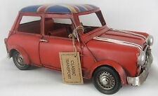 Classic Transport British Mini / Tin Plate Model /Ornament /Gift/ Red