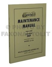 Jeep CJ2A only Shop Manual 1945 1946 1947 1948 1949 Willys CJ-2A Repair Service