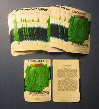 Wholesale Lot 100 Old Vintage - CUCUMBER Boston Pickling Vegetable SEED PACKETS
