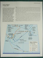 WW2 WWII MAP ~ BATTLE OF MIDWAY 4-5 JUN 1942 US AIR STRIKES MAJOR ATTACKS FLEETS