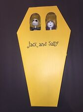 NIGHTMARE BEFORE CHRISTMAS Jack & Sally Coffin Doll figure set Limited Ed DISNEY