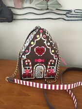 "BETSEY JOHNSON ""Home Sweet Home"" Gingerbread House Crossbody Purse/Bag NWT"