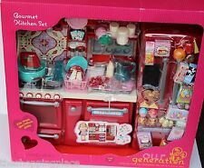 NEW AMERICAN GIRL OUR GENERATION DOLL KITCHEN BAKING OVEN FRIDGE BAKING FOOD WOW