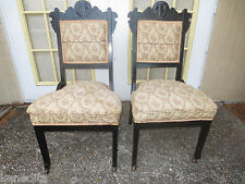 PAIR Victorian Chairs French Eastlake Carved 2 ladies Georgian Empire Antique?