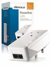 DEVOLO 9292 POWERLINE DLAN 550 DUO PLUS PASS THROUGH ADD-ON ADAPTER, 2 LAN PORTS