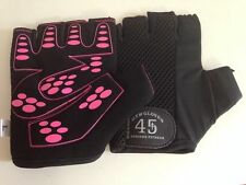 New Ladies Sports weight lifting Cycling Gym Bike Outdoor Gloves In Black/Pink