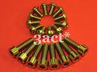 12 - M5 x 10mm, 8 - M6 x 20mm Disc Brake Caliper Rotor Titanium/Ti Bolt Gold