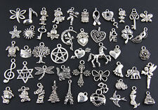 Wholesale 100pcs Tibetan Silver Mix Pendants Charms Style Q1