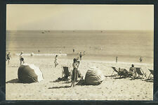 FL Pompano Beach RPPC 1940's HILLSBORO CLUB Woman Taking Photo w Box Camera F-30
