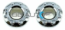 05-16 FORD F350 F-350 DUALLY FRONT 4X4 OPEN CHROME WHEEL CENTER HUB CAPS PAIR