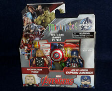 Marvel MiniMates Series 61 Age of Ultron THOR & CAPTAIN AMERICA Figure 2 PK