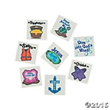 72 Under The Sea Temporary Tattoos VBS Sunday School 2016 Bible School Theme