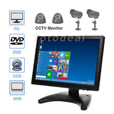 "HD 10"" Ultra thin IPS CCTV PC Touch Color Monitor Audio BNC/AV/HDMI/VGA US STOCK"