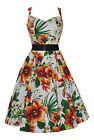 Ladies 40's 50's Retro Vintage Orchid Floral Full Circle Swing Dress New 8 - 26