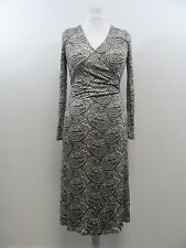 Pure Collection Paisley Print Wrap Dress 100% Silk Size L (UK 16/18) Box4264 I