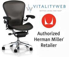 new herman miller polished aluminum chrome frame executive aeron chair size c - Herman Miller Embody Chair