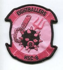 HSC-8 EIGHTBALLERS PINK FOR THE CURE US Navy Sikorsky Helicopter Squadron Patch