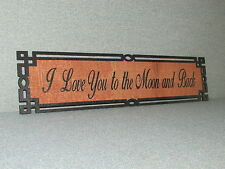 "Rustic Style Wood Sign "" I Love You to the moon and back"""