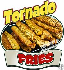 "Tornado Fries Decal 14"" Potato Chips Concession  Restaurant Food Truck Vinyl"