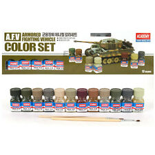 Academy A.F.V Enamel Painting 12 Color Set for Plastic Model Kits #15906