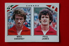 Panini MEXICO 86 N. 224 CANADA SWEENY JAMES  With back!!