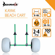 Blackhawk Collapsible Foldable Kayak Inflatable Beach Sand Wheel Cart Trolley