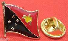 Papua New Guinea Country Flag Lapel Hat Tie Pin Badge Brooch PNG Papua Niugini