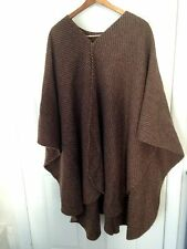 VINTAGE WOOL CAPE ONE SIZE FITS MED -Lg Boho Poncho MADE IN USA