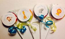 Baby Shower Safari  Swirl/Twirl Lollipop Candy/Party Favor Personalized 12 Count