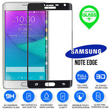 100% Genuine Black Tempered Curved Glass Screen Protector Samsung Note Edge N915