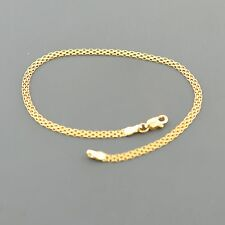 10K YELLOW GOLD 2.5MM WIDE  3 ROW 7.5 INCH BISMARK BRACELET FREE SHIPPING