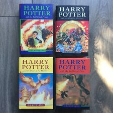 Harry Potter Collection lot of 4 Hardcover Books with Dust Jackets 4 5 6 7