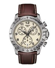 New Tissot V8 Chronograph Men's Leather Strap Sport Watch T1064171626200