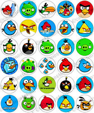 30 x Angry Birds Party Collection Edible Rice Wafer Paper Cupcake Toppers