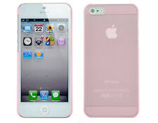 Thin Matte Transparent TPU Crystal Back Case for Apple iPhone 5 5S SE - Pink