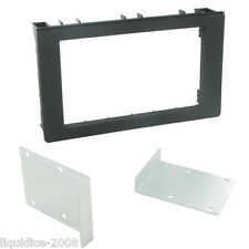 CT24SA10 SAAB 9-3 2005 ONWARDS BLACK DOUBLE DIN FASCIA PLATE PANEL ADAPTOR TRIM