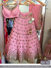 Wedding wear Lehenga Designer Indian Latest saree Bollywood lengha choli set new