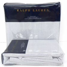 RALPH LAUREN Indigo Montauk KING FLAT SHEET & PILLOWCASES Chambray Blue WESTLAKE