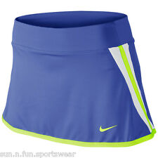 NWT NIKE POWER [XS] Women's Blue/Volt/White Tennis/Golf Skirt Skort Extra Small
