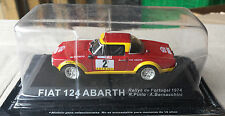 "DIE CAST "" FIAT 124 ABARTH RALLYE DE PORTUGAL - 1974 "" RALLY DEA SCALA 1/43"