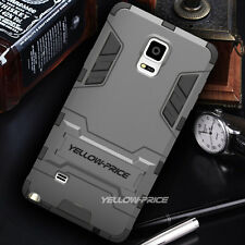 [YELLOW-PRICE Outlet] Samsung Galaxy Note 4 Case [KICK-STAND] Hybrid Armor Cover