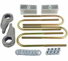 "Ford Ranger Lift Kit Cast Torsion Keys 2"" Aluminum Blocks & Ubolts 1998-11 4x4"