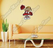 College Cheerleader NCAA Girl Sport Game Wall Sticker Room Interior Decor 20X25""